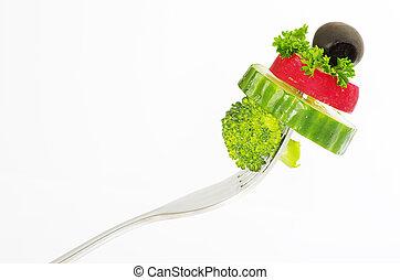 food on a fork