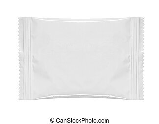 food packaging - blank white product packaging on white ...
