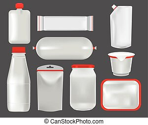 Food packaging. Mock up - Vector set mock up. Food packaging...