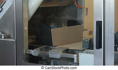 Food packing and sorting industry equipment. Pack the...