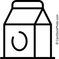Food paper bag icon, outline style