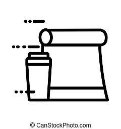 food paper bag line style icon