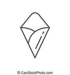 Food paper cornet line outline icon