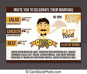 Food party invitation.