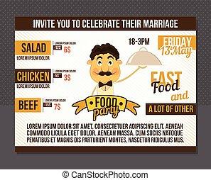 Food party invitation.