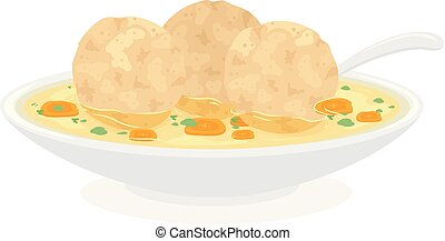 Food Passover Matzah Balls Illustration - Illustration of ...
