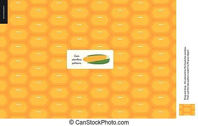 Food patterns, vegetable, corn
