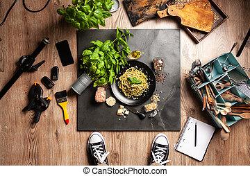 Food photo shoot - top view