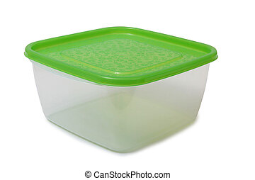 Food plastic containers on white