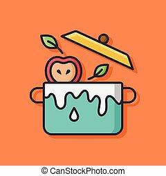 food pot vector icon