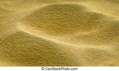 Food Powder Rotating Macro - Powdered food powder macro shot