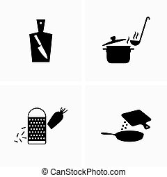 Food preparation, cooking devices - Vector