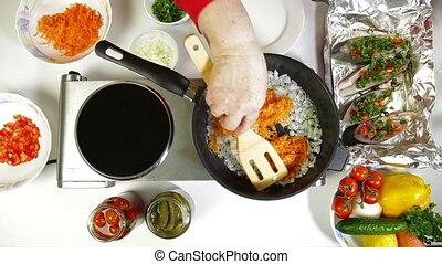 Food Preparation - Fried Vegetables