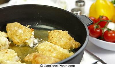 Food Preparation - Frying Chicken