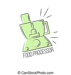 Food processor icon isolated on white background. Logo design template element.