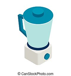 Food processor icon, isometric 3d style