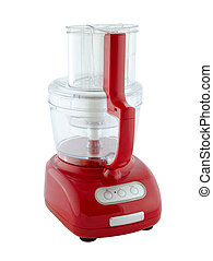 Kitchen appliances - food processor, isolated on a white background