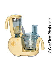 Food Processor - Food processor with blender on isolated...