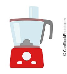 Food processor simple icon isolated. Household appliance. Modern food processor, chopper, grinder. Flat style.