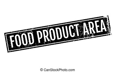 Food Product Area rubber stamp. Grunge design with dust...