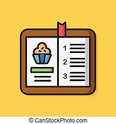 food receipt vector icon