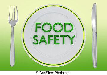 FOOD SAFETY concept - 3D illustration of FOOD SAFETY title ...