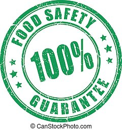 Food safety guarantee stamp - Food safety guarantee rubber...