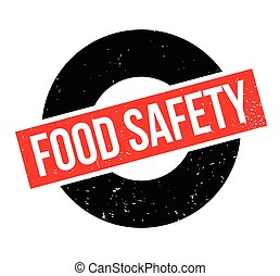 Food Safety rubber stamp. Grunge design with dust scratches....