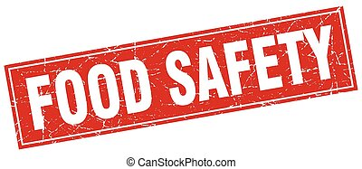 food safety square stamp