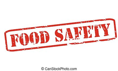Food safety - Rubber stamps with text food safety inside,...