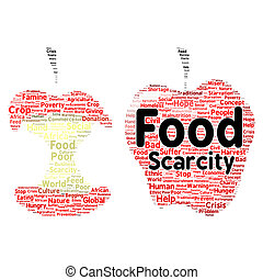 Food scarcity word cloud concept - Food scarcity word cloud...