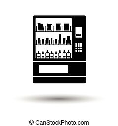 Food selling machine icon. White background with shadow design. Vector illustration.