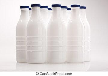 plastic milk bottle - food series: white plastic milk bottle...
