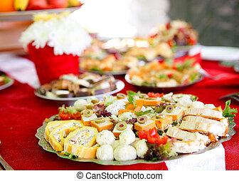 Food served on a plate
