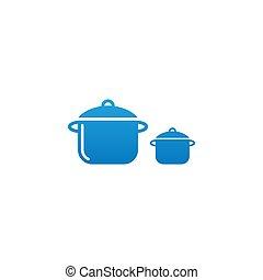 Food service icon logo