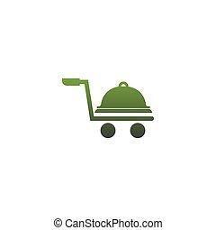 Food service icon logo vector