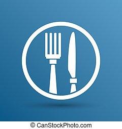 Food service vector logo design template cafe.