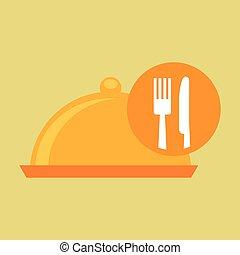 food serving platter icon design