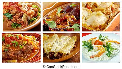 Food set Food of different italian
