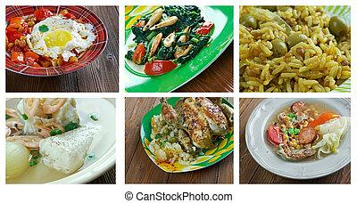 Food set Latin American cuisine - Food set . southern...
