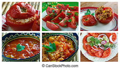 set of different tomato