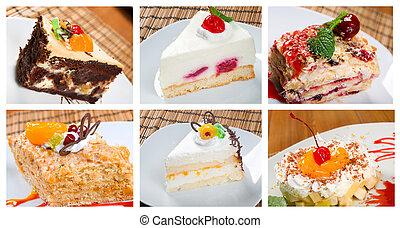 Food set sweet dessert. - Food set of different sweet...