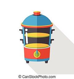 food steamer flat icon