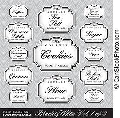food storage labels vol1 (vector)