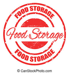 food storage stamp - food storage grunge stamp with on...