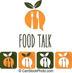 food talk illustration and icon set