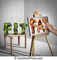 Food Temptation Concept