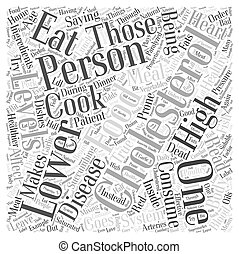 Food That Lower Cholesterol Word Cloud Concept
