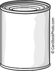 food tin can (metal tin can)