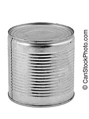 food tin can on whit